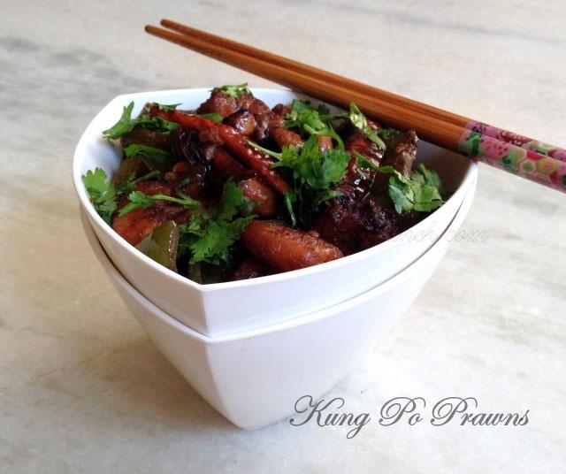 kung po prawns recipe, kung pao prawns, chinese prawns, chinese recipe