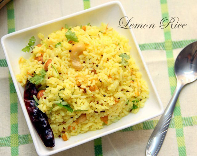 Lemon rice recipe, lemon rice, south indian rice, indian rice recipe, rice recipe