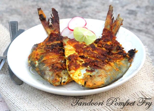 tandoori pomfret fry, pomfret fry, pomfret recipe, pomfret masala, grilled pomfret