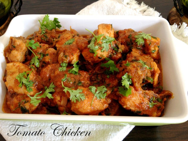 Tomato chicken recipe, indian chicken recipe, chicken recipe