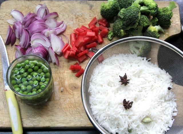 vegetable biryani, fried rice, vegetable dum biryani, Indian biryani recipe