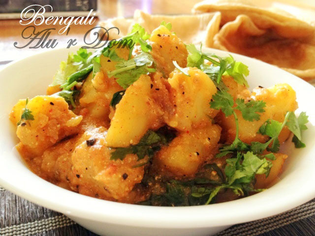 Bengali aloo dum, dum aloo, alur dom, Indian potato dish