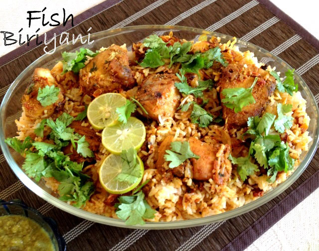 Fish biryani sangee 39 s kitchen for Rice recipes to go with fish