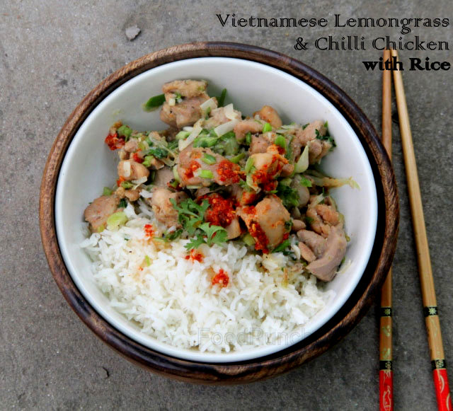 Gao xao xa ot, Vietnamese lemongrass and chilli chicken, Asian chicken recipe