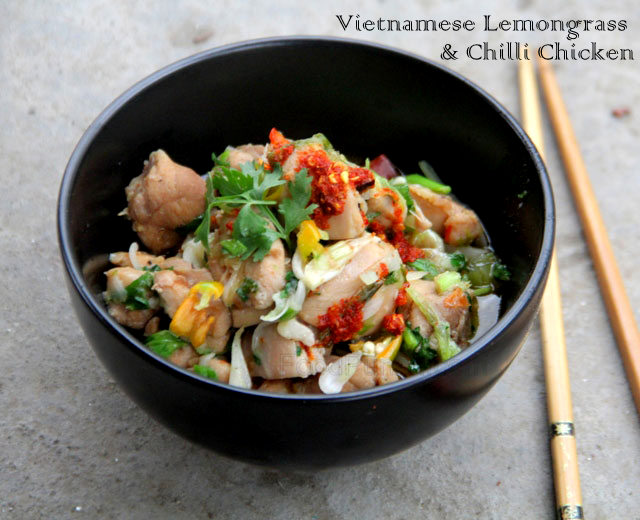 Gao xao xa ot, Vietnamese lemongrass and chilli chicken, Asian chicken recipe