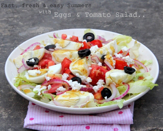 tomato and egg slad, eggs and tomato salad, summer salad, tomato salad