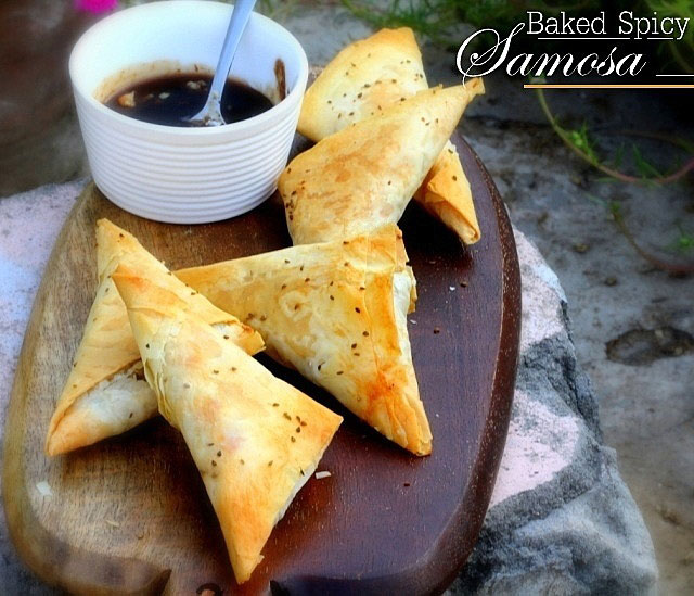 Baked Spicy Samosa Recipe, Punjabi samosa, Indian samosa, Potato puffs