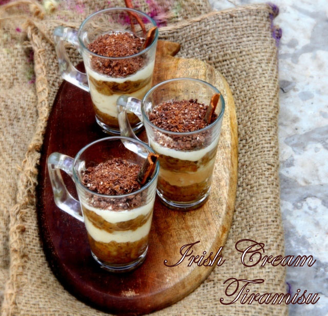 Irish Cream Tiramisu Cups Recipe, Tiramisu recipe, Baliey's recipe, Pound Cake recipe