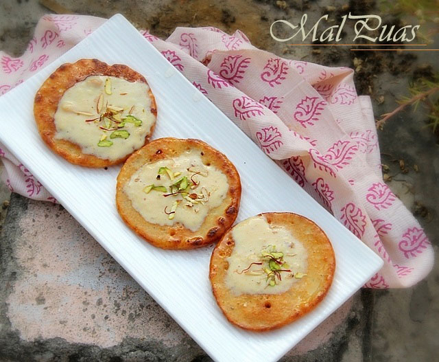 Malpua recipe, malpua with rabri, Indian sweet in syrup recipe, Indian festival sweets recipe, Indian sweets