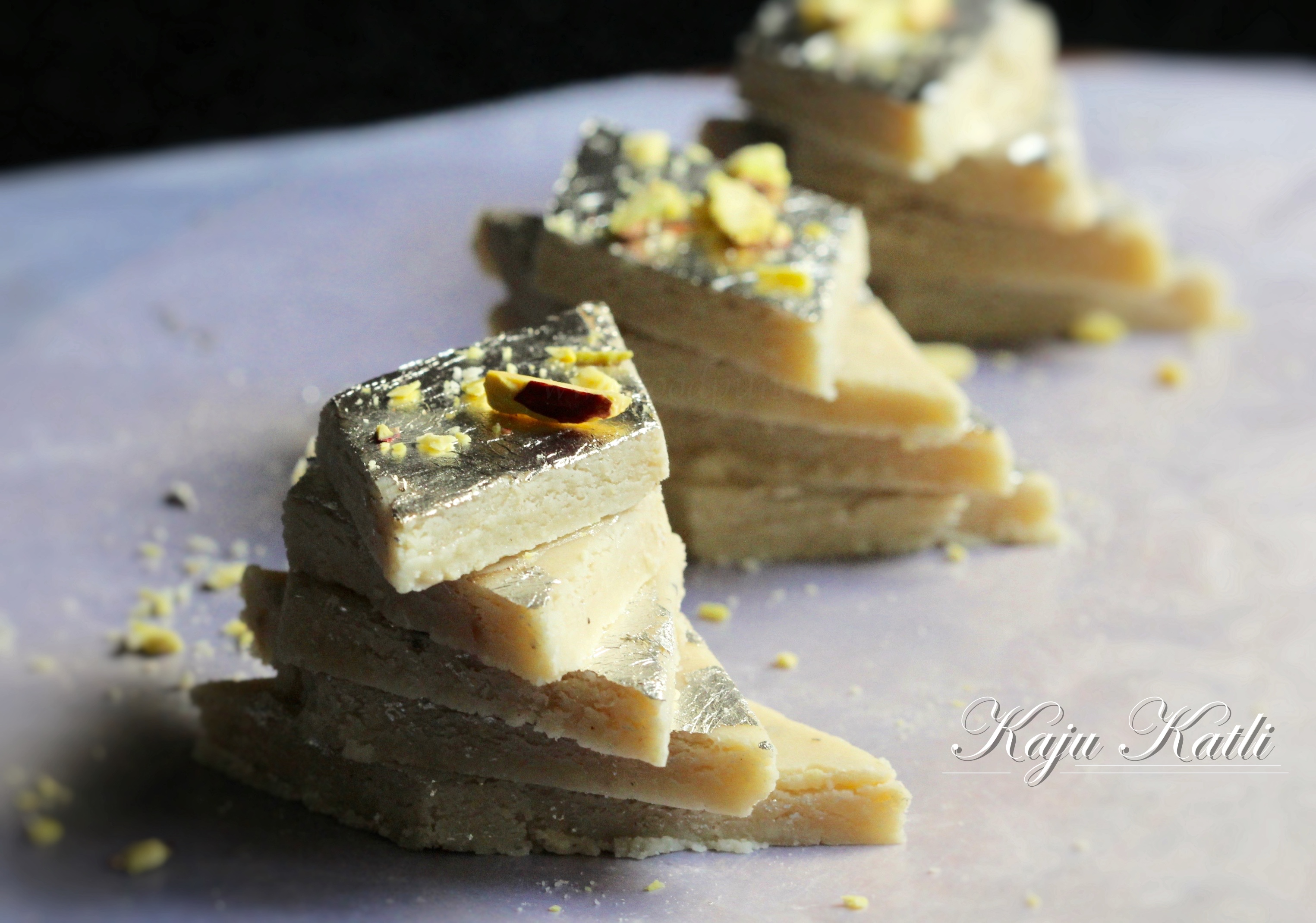how to make kaju katli recipe